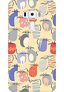 AMEZ designer printed 3d premium high quality back case cover for Asus Zenfone 3 ZS520KL (cats collage)