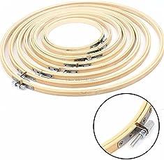 BuyWorld 8Sizes 13-34cm Bamboo Wooden Cross Stitch Machine Embroidery Hoop Ring Sewing Craft DIY Cross Stitch Needlecraft Tools