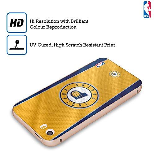 Ufficiale NBA Banner Indiana Pacers Oro Cover Contorno con Bumper in Alluminio per Apple iPhone 5 / 5s / SE Banner