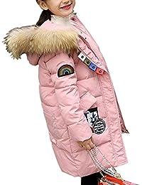 Niñas niños abrigo de invierno acolchado de algodón chaqueta con capucha Parka niña cálido engrosamiento capucha de piel acolchado Outwear traje largo de cazadora superior