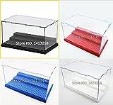 acrilico display scatola custodia perspex antipolvere showcase base per lego Figure mini brick elementi costitutivi - Nero