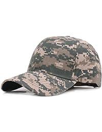 Leisial Hombre Sombrero Gorro Camuflaje Selva Beisbol Ejército Caza Visera Sombrero Sol al Aire Libre Deporte