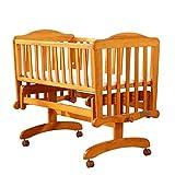 Babybett Baby Kinderbett Massivholz Multifunktions Kinderbett Bett Kinderbett mit Roller