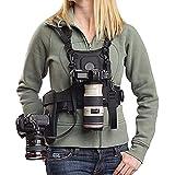 """Micnova MQ-MSP01 Nouveau Bandoulière de transport Photographe sangle de poitrine corps élastique réglable avec Côté Housse de caméra 1/4 """"Vis pour Canon Nikon Sony DSLR Caméra"""