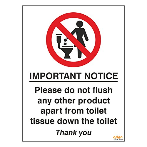 Pack of 2 Toilet Signs. Importan...