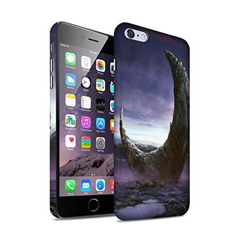 Offiziell Chris Cold Hülle / Matte Snap-On Case für Apple iPhone 6+/Plus 5.5 / Pack 12pcs Muster / Fremden Welt Kosmos Kollektion Zerbrochenen Mond