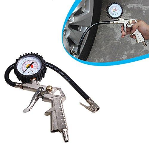 GZQ Medidor de Presión de Neumáticos, Digital 220 PSI con Extensor de Válvula, Indicadores de Aire para Ruedas para Camión, Automóvil, Motocicleta y Bicicleta