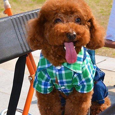 Imagen de perros disfraces mono verde rosa ropa para perro invierno primavera/otoño vaqueros cosplay casual/diario , grün alternativa