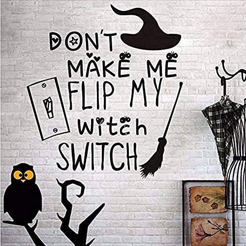 Sie sich nicht mein Schalter Besen Wandaufkleber Kinderzimmer Wanddekoration Urlaub Party Halloween Dekoration Zubehör 41 * 45 cm ()