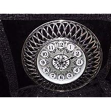 LUXUS MEDUSA Wanduhr Moderne Uhren Designer Quartz Bürouhr Wohnzimmer Uhr  NEU Silber Deko Koenig Styl