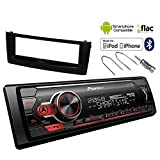 Autoradio Fiat Grande Punto Kit Mascherina Stereo Pioneer MVH-S410BT USB BT AUX