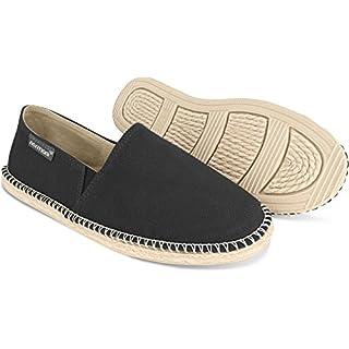 normani Sommer Schuhe - Klassische Espadrillas - Flache Stoffschuhe - Freizeitschuhe für Damen und Herren [Gr. 36-46] Farbe Schwarz Style 2 Größe 43