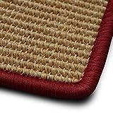 casa pura Sisal Teppich myStyle | Viele Größen | mit Umkettelung in Wunschfarbe | für Modernes und Individuelles Wohnen (Rot umkettelt, 160x230 cm)