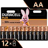 Duracell Plus, lot de 12 piles alcalines Type AA 1,5 Volts LR6 MX1500 (visuel non contractuel)