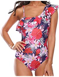 aa0e7f0091c6a Bikinis Tallas Grandes Mujer Ropa de baño Camisolas Mono POLP Sujetador sin  Espalda Push up Estampado