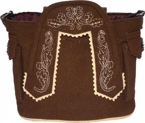Damen Handtasche Trachtentasche Dirndl Taschen Trachten Leder-Imitat Rot