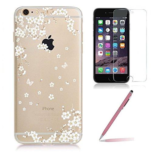 iPhone 6/6s Custodia con Vetro Temperato Protezione Libera Dello Schermo,