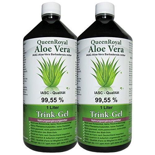 QueenRoyal Aloe Vera Trink Gel 99.55{e5e4746fcd7ff472f6e690b35e87b0db03caa8e4ddfd62a00cc1e5004e0f8d10} pur 2 Liter Sparpack #30256G