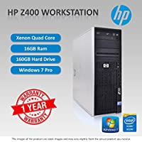 HP Z400 workstation Xeon Quad Core W3520 2.66GHz CPU 16GB Ram 160GB HDD DVD-RW Dual Display Gaming Graphics Win 7 Pro 64Bit sold and warranted by Easy buy (CRS-UK) Registered Trade Mark No.UK00003100631