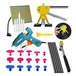 AUTOPDR® 30Pcs DIY New Car Body Paintless Dent Repair Puller Kit Hand Tools Hammer Glun Gun Stick