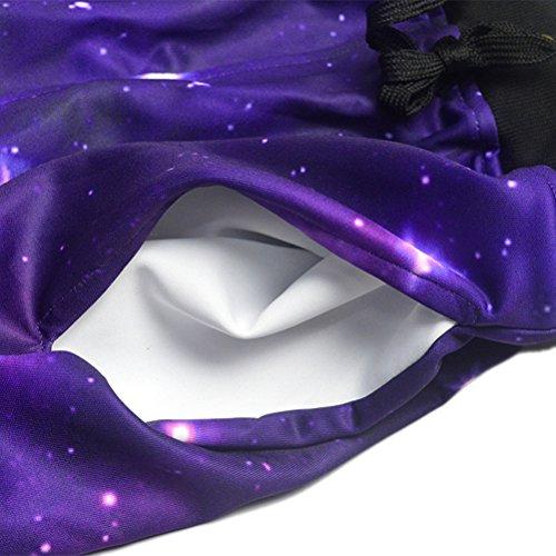 Uideazone Pantaloni unisex 3D Stampato Graphric Sport jogging Pantaloni sportivi casual galaxy1