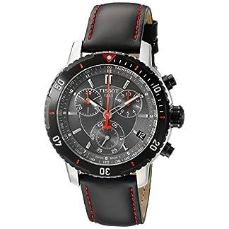 Tissot PRS 200 – Reloj (Reloj de Pulsera, Masculino, Acero Inoxidable, Negro, Acero Inoxidable, Cuero, Negro)