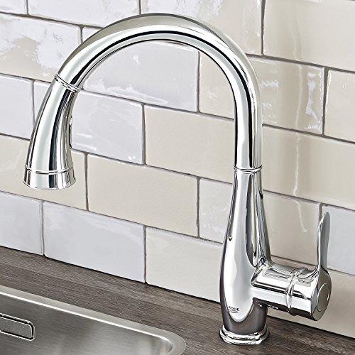 Grohe – Parkfield Küchenarmatur, hoher Auslauf, Komfort-Spülbrause, Chrom - 3