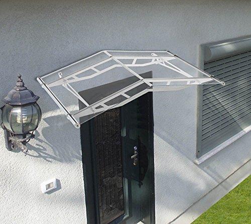 Palram Vordach Unterstand Triangulum 1500 inkl. Regenrinne // 148x91 cm (BxT) // Türüberdachung & Türvordach