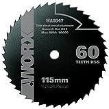 Worx HSS Sägeblatt 115mm WA5047, 60 Zähne, 115 mm