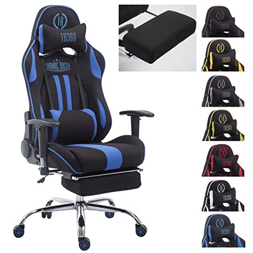 CLP Silla Racing XL Limit V2 Tapizada en Tela I Silla Gaming con Soporte Metal I Silla Oficina con Ruedas I Silla Gamer Regulable en Altura I Color: N