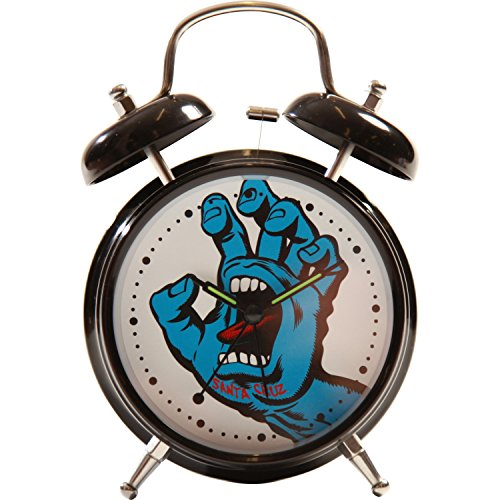 Santa Cruz Clock Screaming Hand Alarm Black, One Size