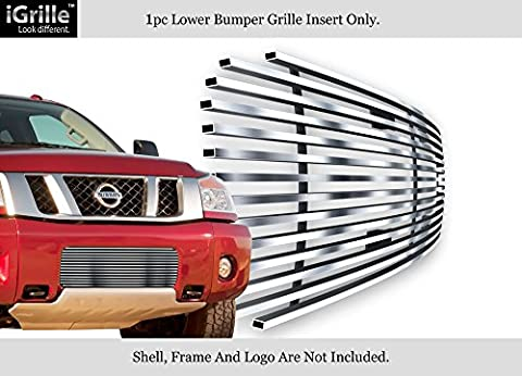 Fits 2004-2015 Nissan Titan/04-07 Armada Bumper Stainless Billet Grille Insert #N85413C by APS