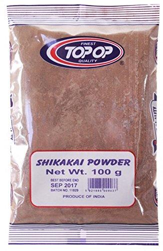 TOP OP - Shikakai-Pulver - Pflege für Schuppen & dünnes Haar - Lindert juckende Kopfhaut - Ersetzt Shampoo & Conditioner - Bietet seidigen Glanz & Volumen - 100 g -