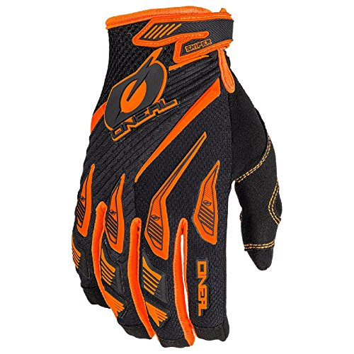 O'Neal Sniper Elite MX Handschuhe Motocross TPR DH Downhill Enduro Offroad Mountain Bike, 0366, Farbe Orange, Größe L (Off-road-mountain-bike)