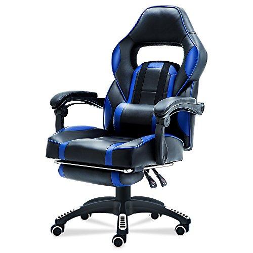 Stuhl Drehstuhl Home Office Executive Computer-Schreibtisch Stuhl höhenverstellbar Ergonomische Fußstütze Liege mit gepolstertem und Lendenkissen (Home-office Schreibtisch Executive)