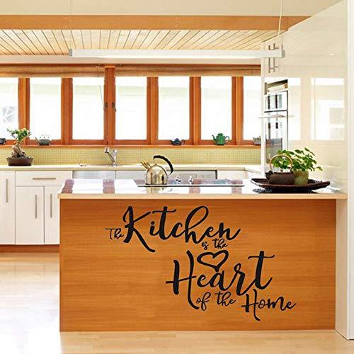 Yzybz Die Küche Ist Das Herzstück Des Hauses Wasserdichte Pvc-Wandaufkleber Dekorative Gemälde Für Küchen Restaurants 35 * 50 Cm (Halloween Herzstück Diy)