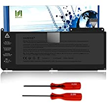 HASESS Nueva Li-Polímero Batería de Repuesto 6000mAh/66Wh para Apple MacBook Air 13 pulgada Unibody A1331 A1342(2011 y 2012 modelos sólo) ajuste MC375LL/A MC516LL/A MC207LL/A 661-5391 020-6582-A 020-6809-A 020-6810-A - 18 Meses de Garantía
