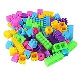 Sharplace 250 Stück Bunte Kunststoff Bausteine Steckbausteine Bauklötzchen Set als Lernspielzeug Geschenk für Kinder