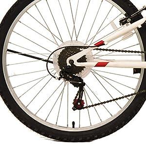 F.lli Schiano Freedom - Bicicleta de montaña, 18 velocidades, doble suspension, color blanca/roja, cambio Shimano, rueda 26''