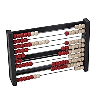Wissner Wissner080203.300 080203.300 RE-Wood 100 Student Abacus, Red/White, Multi-Color