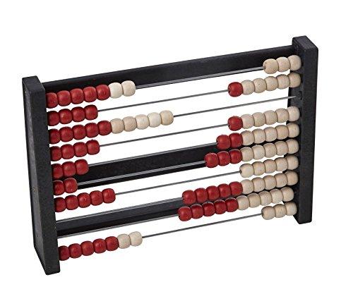 LINEX 400065132 Abakus mit 100 Perlen Rechenrahmen Zählrahmen aus Holz spielerische Rechenhilfe ab dem 1. Schultag