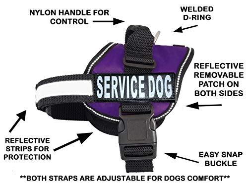 Service Hundegeschirr Weste Wird mit 2Reflektierenden Service Dog Klettverschluss Patches. Bitte Messen Sie vor Bestellung, Girth 12-16