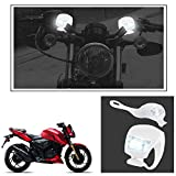 #6: Vheelocityin 2+2 Led White Bike Light with Flashing Mode Motorcycle LED For Tvs Apache Rtr 200 4V