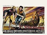 Los vikingos Póster de película 30 x 40 - 77 cm x 102 cm Kirk Douglas Ernest Borgnine Janet Leigh Tony Curtis James Donald Alexander Knox