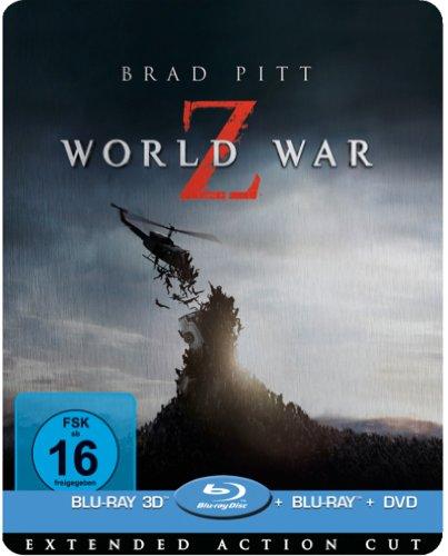 Bild von World War Z 3D - Limited Lenticular Steelbook Edition (Blu-ray 3D + Blu-ray + DV