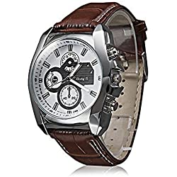 Lightinthebox® Brown Men's Business Style PU Leather strap watches Leather Band Quartz Wrist Watch Fashion casual quartz wristwatches