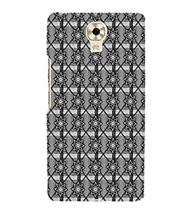 HiFi Designer Phone Back Case Cover Gionee M6 ( Star Black and White Pattern Design )