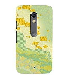 PrintVisa Colorful Pattern 3D Hard Polycarbonate Designer Back Case Cover for Motorola Moto X Play