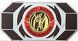 Mighty Morphin Power Rangers 'Toppa da applicare con ferro da stiro, rosa, Ranger Morpher cintura con fibbia Badge Pterodattilo Appliques-Costume da collezione, motivo: