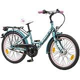Galano 20 Zoll Kinderfahrrad Blossom LE Mädchenrad Jugendrad Cityrad, Farbe:Grün